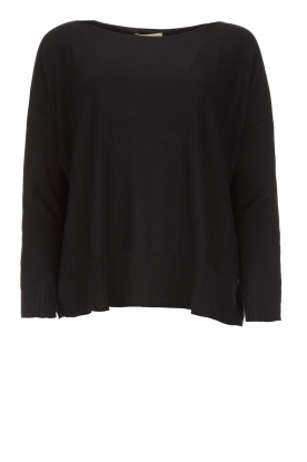 Blaumax |  Lightweight sweater Rea | black
