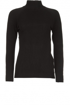 Blaumax |  Basic turtleneck sweater Nova | black