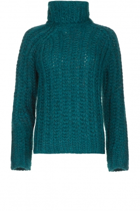 Blaumax | Cable sweater Tia | blue