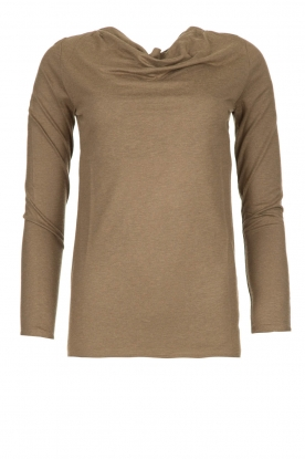 Blaumax |  Sweater with waterfall neckline Piper | brown