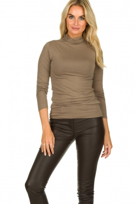 Blaumax |  Turtleneck top Antonia | brown