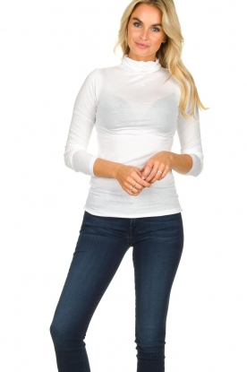 Blaumax |  Turtleneck top Antonia | white