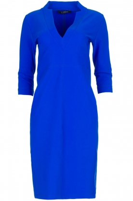 D-ETOILES CASIOPE |  Wrinkle-free stretch dress Soeur | blue