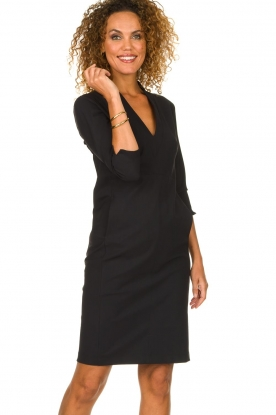 D-ETOILES CASIOPE |  Wrinkle-free stretch dress Soeur | black
