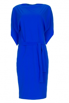 D-ETOILES CASIOPE |  Wrinkle-free stretch dress Sucre | blue