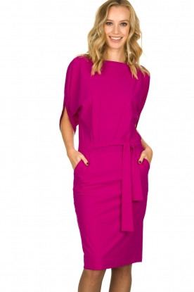 D-ETOILES CASIOPE |  Wrinkle-free stretch dress Sucre | pink