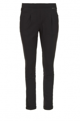 D-ETOILES CASIOPE |  Wrinkle-free stretch trousers Rover | black