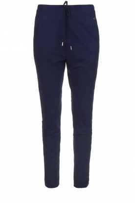 D-ETOILES CASIOPE |  Wrinkle-free stretch pants Guet | blue