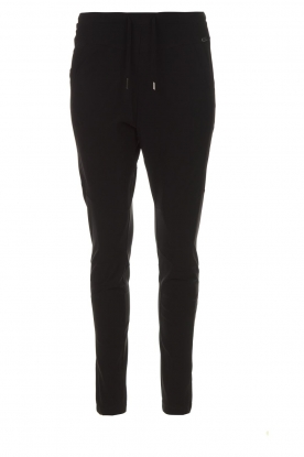 D-ETOILES CASIOPE |  Wrinkle-free stretch trousers Guet | black