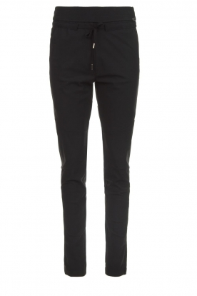 D-ETOILES CASIOPE |  Wrinkle-free stretch trousers Phé Plus | black