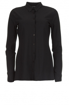 D-ETOILES CASIOPE |  Wrinkle-free stretch blouse Petite | black