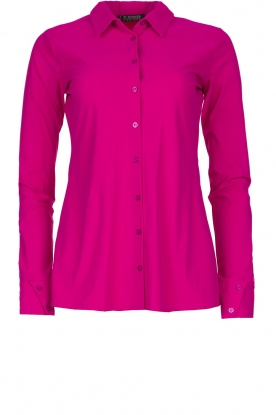 D-ETOILES CASIOPE |  Wrinkle-free stretch blouse Petite | pink
