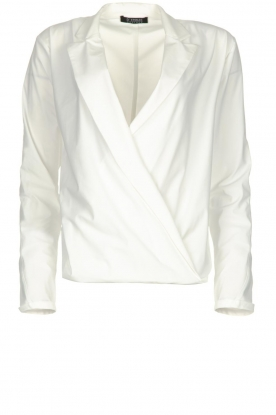 D-ETOILES CASIOPE | Wrinkle-free stretch blouse Sangria | white