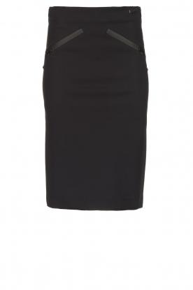 D-ETOILES CASIOPE |  Wrinkle-free stretch skirt Sharita | black