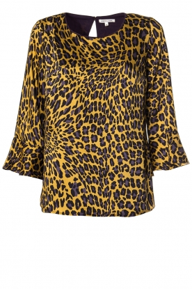 Kocca | Blouse with print Jean | yellow