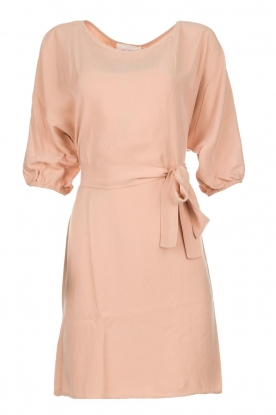 American Vintage |  Dress with ribbon around the waist Nala | nude pink