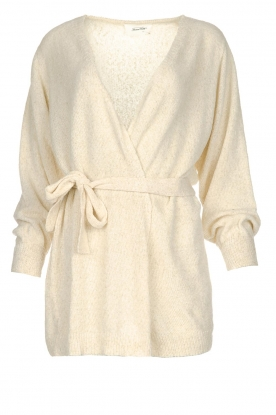 American Vintage | Cardigan with belt Biba | natural