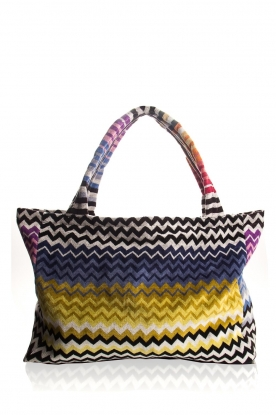 Reetsj |  Beachbag with zigzag Suvi | multi