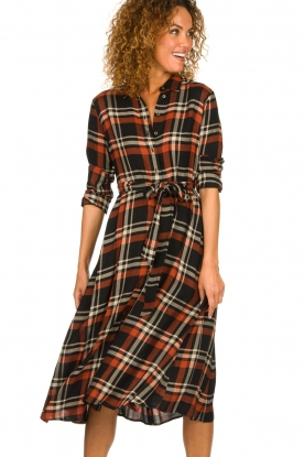 Kocca |  Checkered midi dress Magnify | multi