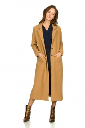 Kocca |  Long coat Dimity | camel