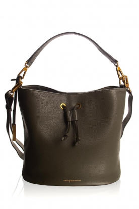 Smaak Amsterdam |  Leather bucket bag Fred | green