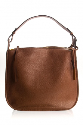 Smaak Amsterdam |  Leather shoulder bag Sanne | camel