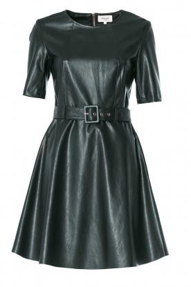 Kocca | Imitatieleren jurk Nidra | groen