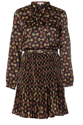 Kocca |  Dress with stirrups print Fubi | black