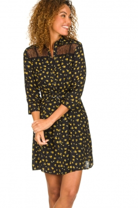 Kocca |  Foral dress Risto | black