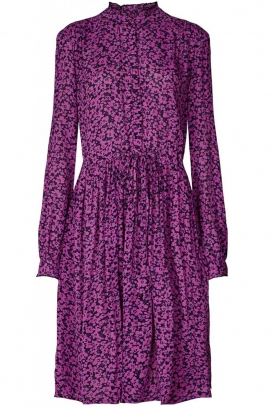 Lolly's Laundry |  Printed dress Sienna | purple