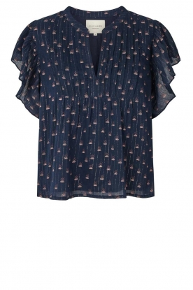 Lolly's Laundry | Top met print Isabell | blauw