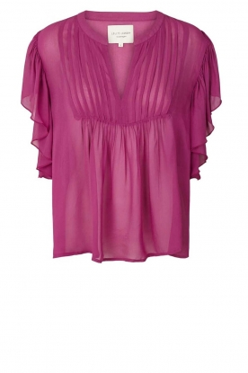 Lolly's Laundry |  Pleated top Isabell | purple
