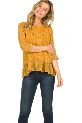Lolly's Laundry |  Printed top Jenny | yellow
