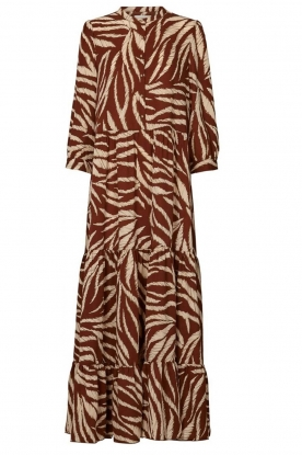 Lolly's Laundry |  Printed maxi dress Nee | brown