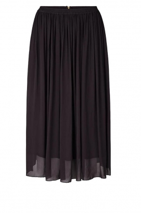 Lolly's Laundry |  Pleated midi skirt Pauline | black