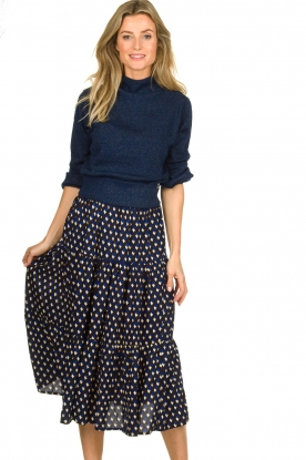 Lolly's Laundry | Skirt with print Morning | blue