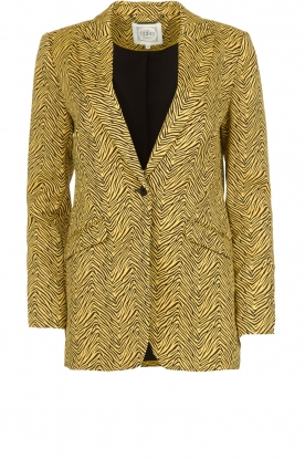 Aaiko | Blazer with print Adeline | yellow