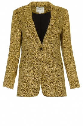 Aaiko | Blazer with zebra print Adeline | animal print