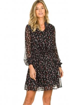 Aaiko | Dress with print Ceska | black