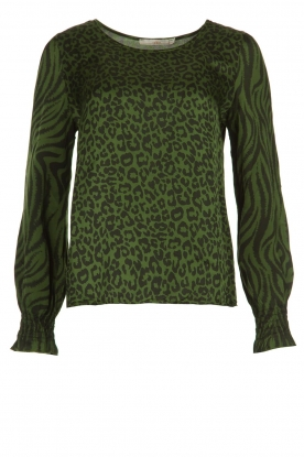 Aaiko |  Animal print blouse Medelin | animal print
