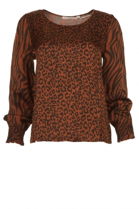 Aaiko |  Top with panther and zebra print Medelin | animal print