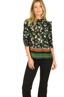 Aaiko |  Flower printed top Faria