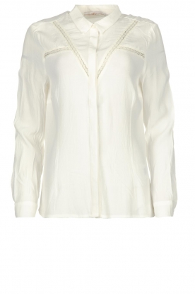 Aaiko |  Blouse with lace details Vilou | white