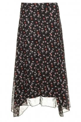 Aaiko | Skirt with print Caya | black