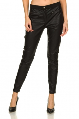 Aaiko |  Leather pants Persy | black