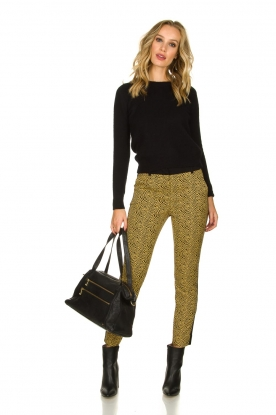 Aaiko |  Pants with zebra print Parien | yellow