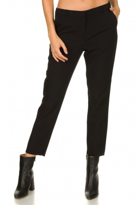 Aaiko |  Trousers with side stripes Parien | black