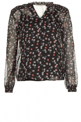 Aaiko | Blouse with print Charley | black