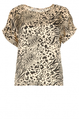 Aaiko |  Animal print top Merle | nude