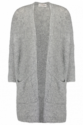 Aaiko | Knitted cardigan Troy | grey